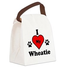 I Heart My Wheatie Canvas Lunch Bag