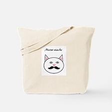 Meow-stache Tote Bag