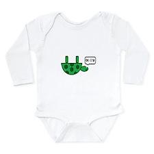 Upside down turtle Long Sleeve Infant Bodysuit