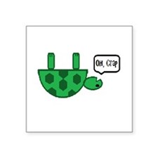 "Upside down turtle Square Sticker 3"" x 3"""