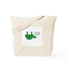 Upside down turtle Tote Bag