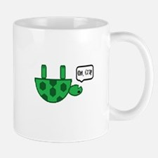 Upside down turtle Small Small Mug