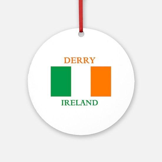 Derry Ireland Ornament (Round)