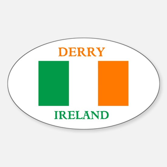 Derry Ireland Sticker (Oval)