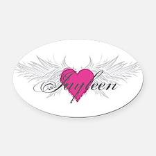 My Sweet Angel Jayleen Oval Car Magnet