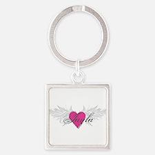 My Sweet Angel Jayla Square Keychain