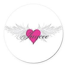 My Sweet Angel Jaycee Round Car Magnet