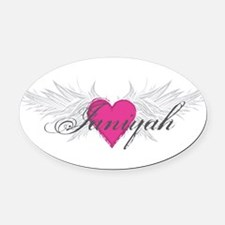 My Sweet Angel Janiyah Oval Car Magnet