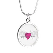 My Sweet Angel Janessa Silver Round Necklace