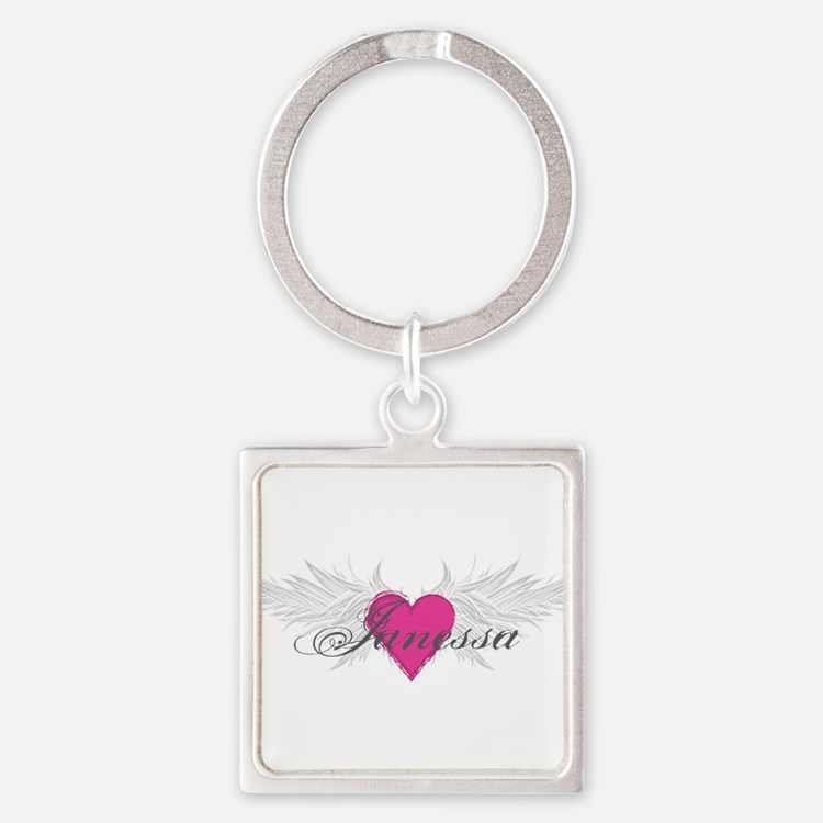 My Sweet Angel Janessa Square Keychain