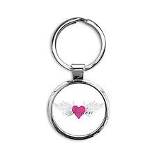 My Sweet Angel Jaiden Round Keychain