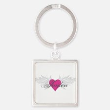 My Sweet Angel Jaiden Square Keychain
