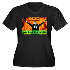 Cute Tricky dick Women's Plus Size V-Neck Dark T-Shirt