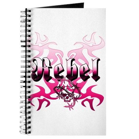 The pink REBEL Skull Tattoo Journal