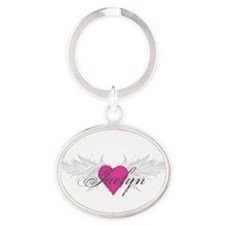 My Sweet Angel Jaelyn Oval Keychain