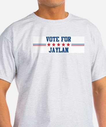Vote for JAYLAN Ash Grey T-Shirt