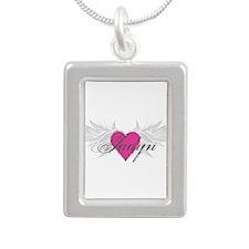 My Sweet Angel Jadyn Silver Portrait Necklace