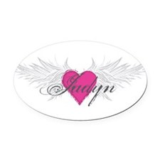 My Sweet Angel Jadyn Oval Car Magnet