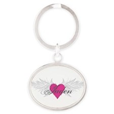 My Sweet Angel Jaden Oval Keychain