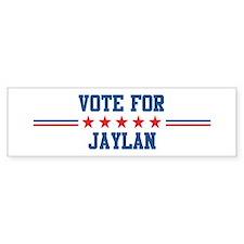 Vote for JAYLAN Bumper Car Sticker
