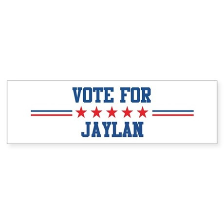 Vote for JAYLAN Bumper Sticker