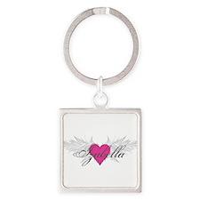 My Sweet Angel Izabella Square Keychain