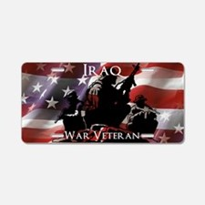 Iraq War Veteran Aluminum License Plate