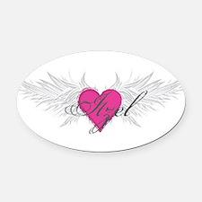 My Sweet Angel Itzel Oval Car Magnet