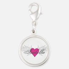 My Sweet Angel Isabella Silver Round Charm