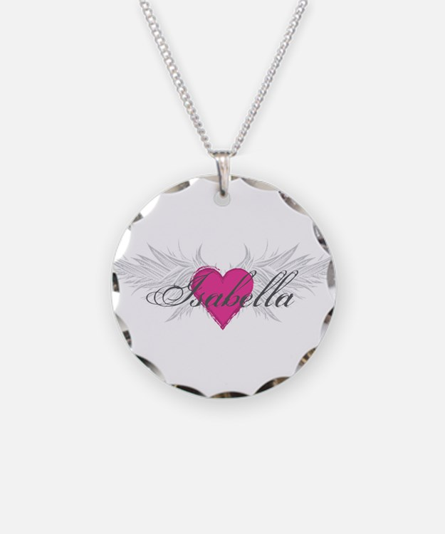 My Sweet Angel Isabella Necklace Circle Charm