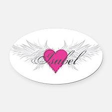 My Sweet Angel Isabel Oval Car Magnet