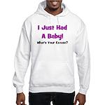 I Just Had A Baby! Hooded Sweatshirt