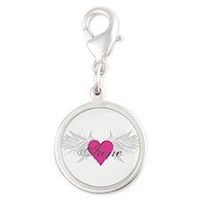 My Sweet Angel Irene Silver Round Charm