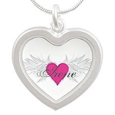 My Sweet Angel Irene Silver Heart Necklace