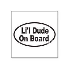Li'l Dude On Board Euro Oval Sticker
