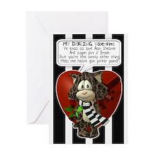 Geordie Valentine's Greeting Card With Verse