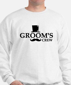 Mustache Groom's Crew Sweater