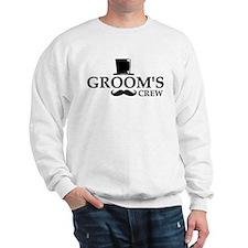 Mustache Groom's Crew Sweatshirt