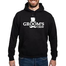 Mustache Groom's Crew Hoodie