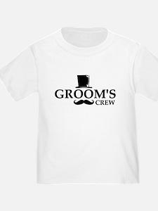 Mustache Groom's Crew T