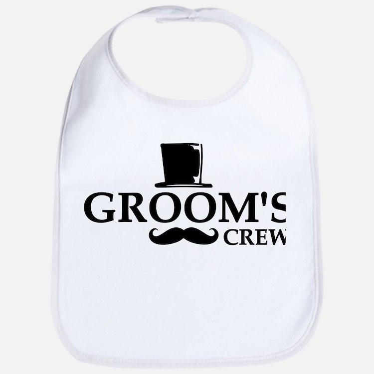 Mustache Groom's Crew Bib