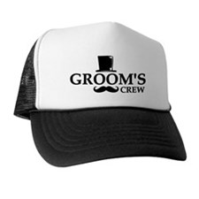 Mustache Groom's Crew Trucker Hat