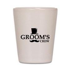 Mustache Groom's Crew Shot Glass