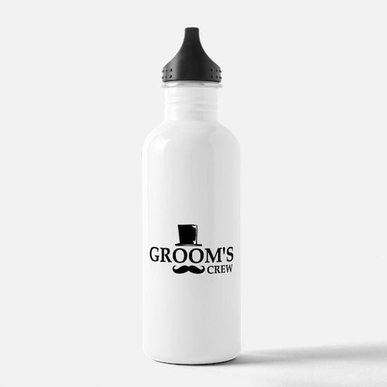 Mustache Groom's Crew Water Bottle