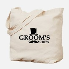 Mustache Groom's Crew Tote Bag