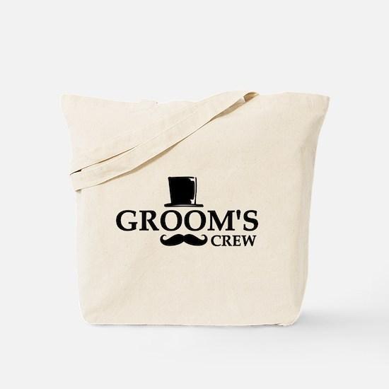 Mustache Groom's Crew Tote Bag