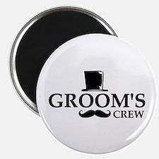 """Mustache Groom's Crew 2.25"""" Magnet (10 pack)"""