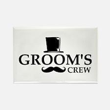 Mustache Groom's Crew Rectangle Magnet (10 pack)