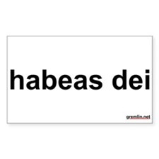 habeas dei Rectangle Decal