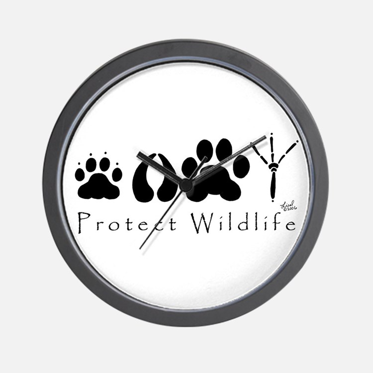 Protect Wildlife Wall Clock